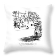 It's About Sex And Revenge Throw Pillow by Robert Weber