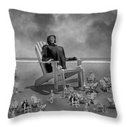 It's All In Black And White Throw Pillow