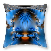 Its All In The Eyes Throw Pillow by Ian Mitchell