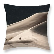 It's All Uphill Throw Pillow