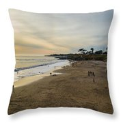 Its Beach Afternoon In Santa Cruz Throw Pillow