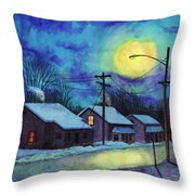 Its Cold Outside. Throw Pillow