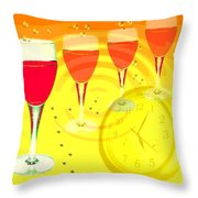 Its Five O'clock Somewhere Throw Pillow