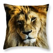 Its Good To Be King Portrait Illustration Throw Pillow