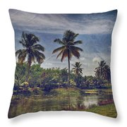 It's Hanging In The Air Throw Pillow