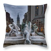 Its Icy In Philly Throw Pillow