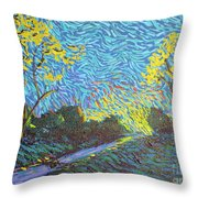 It's Just Over The Hill Throw Pillow