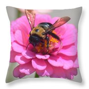 It's Mine Said The Bee Throw Pillow