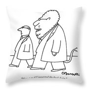 it 39 s not as if i invented the food chain throw pillow for sale by charles barsotti. Black Bedroom Furniture Sets. Home Design Ideas