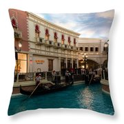It's Not Venice - Gondoliers On The Grand Canal Throw Pillow
