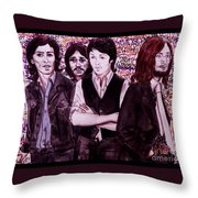 It's Only A Northern Song Bordered Throw Pillow
