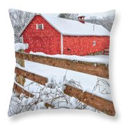 It's Snowing Square Throw Pillow by Bill Wakeley