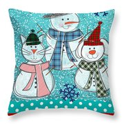 It's Snowtime Throw Pillow