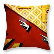 The 70s Finger Knows Throw Pillow