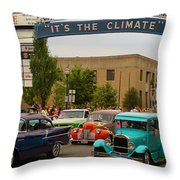 Its The Climate For A Cruise Throw Pillow