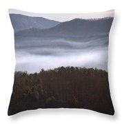 It's The Smokies Folks Throw Pillow by Skip Willits