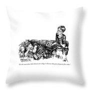It's This Marvelous Little Liberal-arts College Throw Pillow