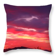 Vivid Sunset Throw Pillow