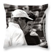 Ivan Lendl And Andy Murray  Throw Pillow by Nishanth Gopinathan