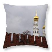 Ivan The Great Belfry Of Moscow Kremlin Throw Pillow