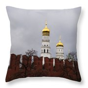 Ivan The Great Belfry Of Moscow Kremlin - Square Throw Pillow