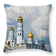 Ivan The Great Bell Tower Of Moscow Kremlin - Featured 3 Throw Pillow
