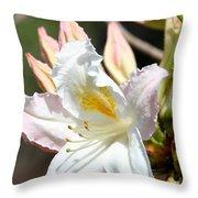 Ivory Azalea Throw Pillow