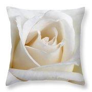 Ivory Rose Flower Throw Pillow