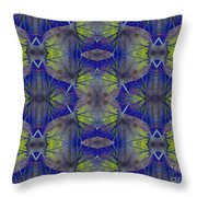 Ivy Abstract 1 Green Blue Throw Pillow