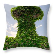Ivy Covered Cross Throw Pillow