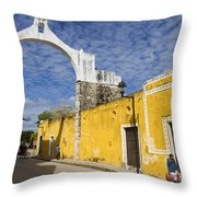 Izamal And It's Famous Arch Throw Pillow