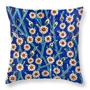 Iznik Tiles In Harem Topkapi Palace Istanbul Throw Pillow