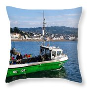 J B P Leaving The Harbour Throw Pillow