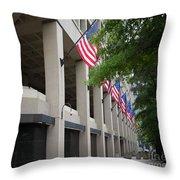 J Edgar Hioover Fbi Building Throw Pillow