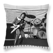 J. Geils On Stage In Oakland 1976 Throw Pillow