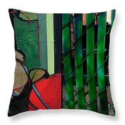 j HOT 34 Throw Pillow