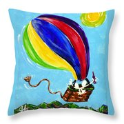 Jack And Charlie Fly Away Throw Pillow