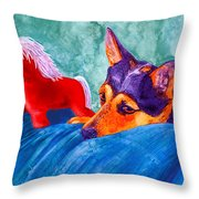Jack And Red Horse Throw Pillow