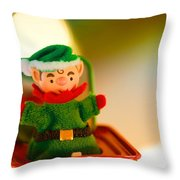 Jack-in-the-box Throw Pillow