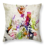 Jack Johnson Portrait Throw Pillow by Aged Pixel