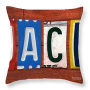 Jack License Plate Name Sign Fun Kid Room Decor Throw Pillow