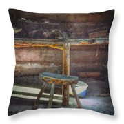 Jack London's Log Cabin Throw Pillow