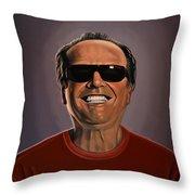 Jack Nicholson 2 Throw Pillow