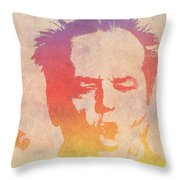Jack Nicholson Throw Pillow