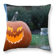 Jack O Lan Tern Throw Pillow