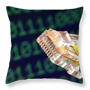 Jack Of All Computer Trades Throw Pillow