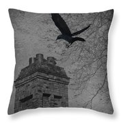 Jackdaw Flying To Chimney Throw Pillow