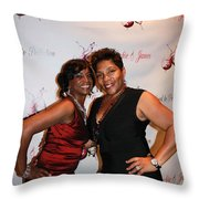 Jackie And James Party 53 Throw Pillow