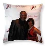 Jackie And James Party 62 Throw Pillow