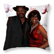 Jackie And James Party 63 Throw Pillow